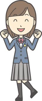 高中學生西裝外套女人-139-全身