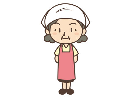 D022 _ triangle apron woman