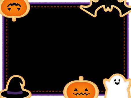 Halloween cookie frame _ black