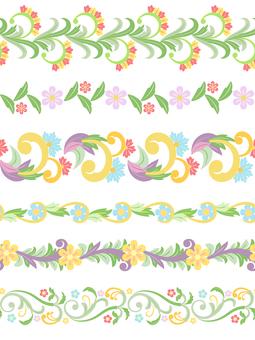 花のラインセット