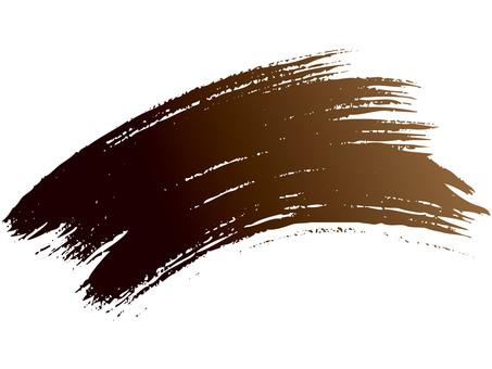 Brush line (curve · brown → black ink)