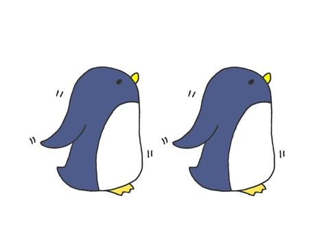 2 walking penguins 1