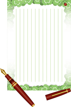 Stationery Clover Fountain Pen Vertical Writing