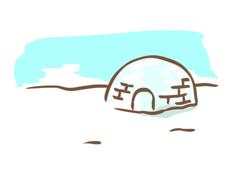 Igloo such as Antarctica and Arctic
