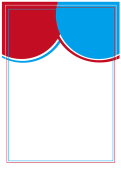 New Year's frame (red and blue) No placement