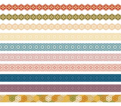 Japanese pattern decorative ruling set 04