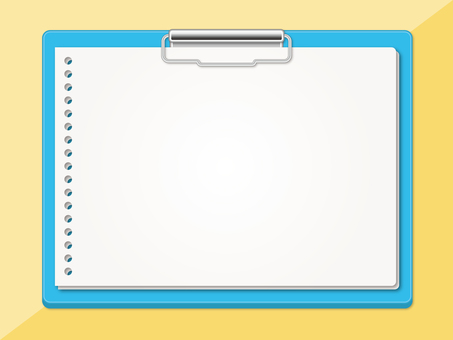 Light blue binder (sideways)