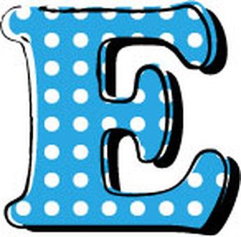 Dotted alphabet E