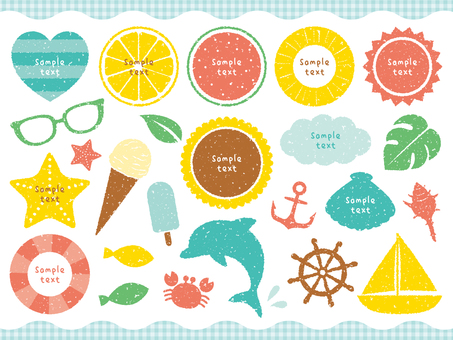 Stamp Summer Decoration Set 01
