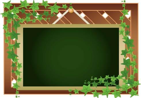 Thread leaf black board
