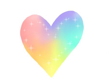 彩虹色的心