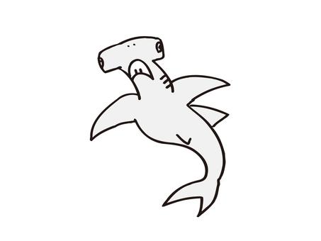 Smoked shark