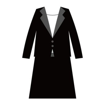 Image of female mourning · uniform · suits