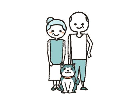 노부부와 강아지