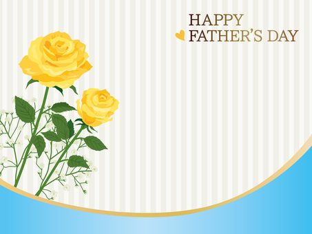 Father's Day Roses Curve Message Card 06