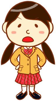 """Blazer female (anger) """"beige × red"""""""