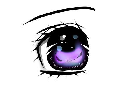Comic purple eyes
