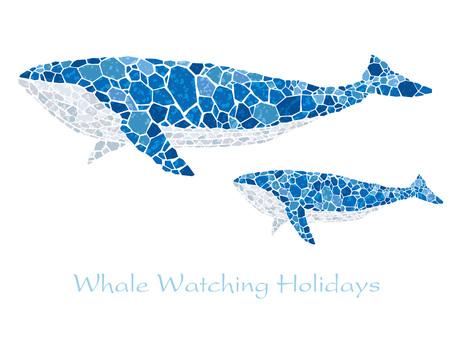 Mosaic art whale