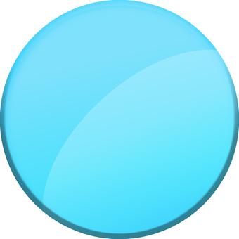 Aqua Plate round light blue