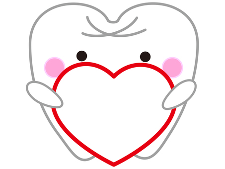 Tooth with red heart