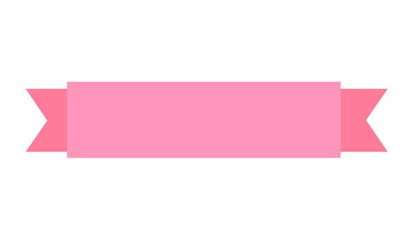 Straight Pink Ribbon