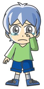 Boy illustration - sorrow 2