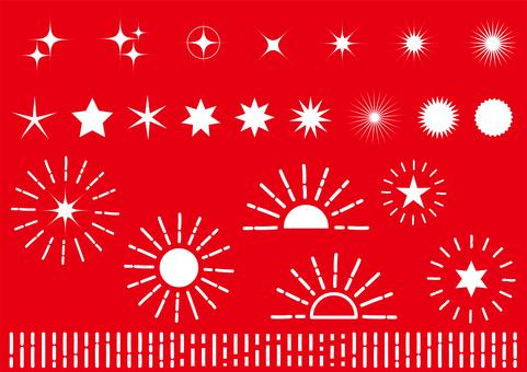 紅色輻形閃爍背景材料