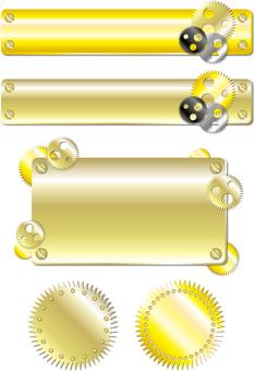 Spiral iron frame set 3