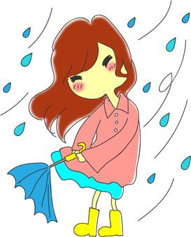 ゲリラ豪雨と女の子