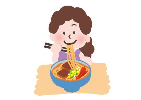 Soak buckwheat noodles