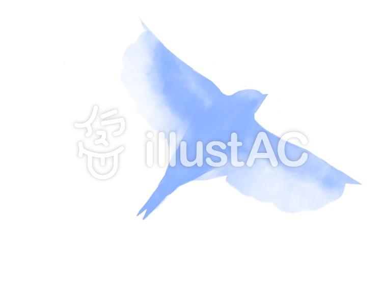 飛んでいる鳥シルエットイラスト , No 1080768/無料イラスト