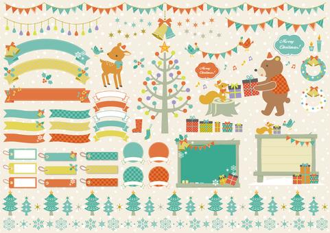 크리스마스 나무 소재 다양