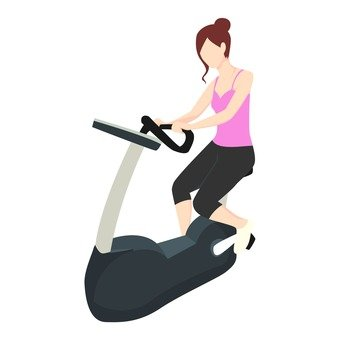 Diet - A woman riding an aero bike (pink)