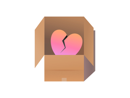 Cardboard luggage heart wound courier