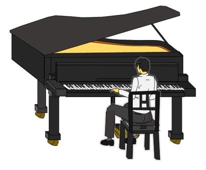 一個人彈一架大鋼琴