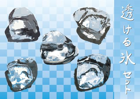 Set of transparent ice