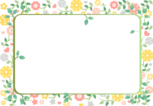 Flower pattern frame