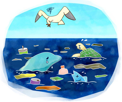 Plastic waste and marine pollution