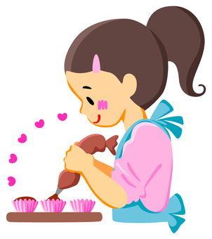 Girl making sweets