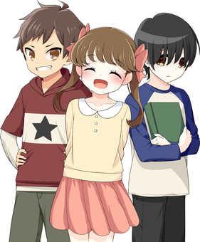 Standing picture of elementary school children