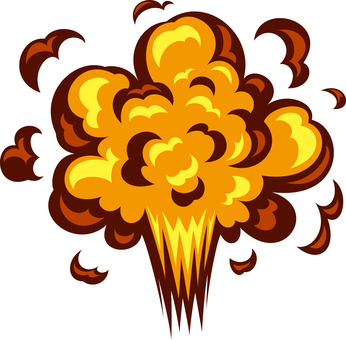 Explosion, blast, eruption image material