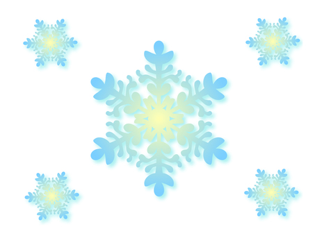 Light blue snow crystal