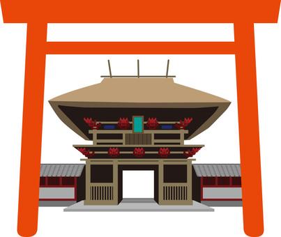 靖國神社torii例證