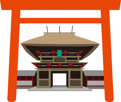 Shrine torii illustration