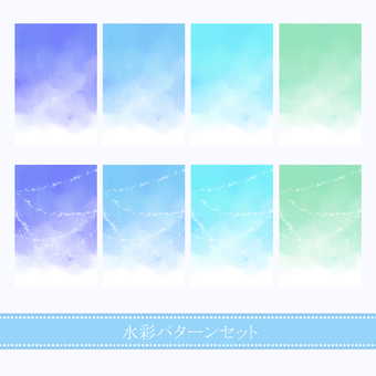 Water color material 01 / cool color