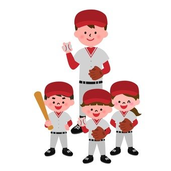 Baseball team children