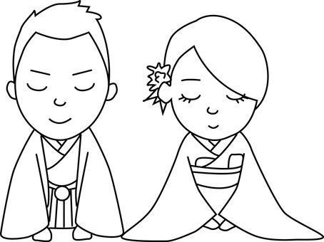 Couple (Japanese clothes)