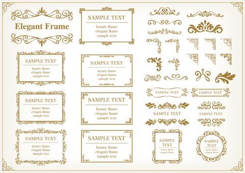 Elegant frame set 6