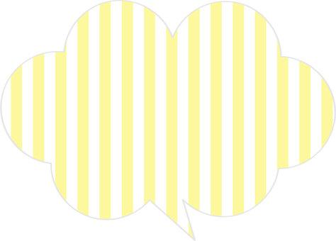 Stripe cloud balloon (yellow)
