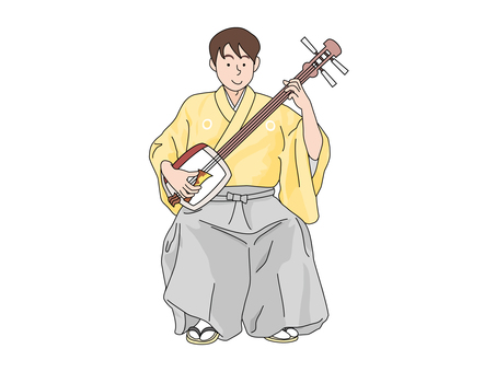 Tsugaru Shamisen player 2